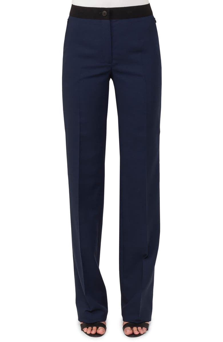 AKRIS Carl Double Face Stretch Wool & Silk Trousers, Main, color, 400