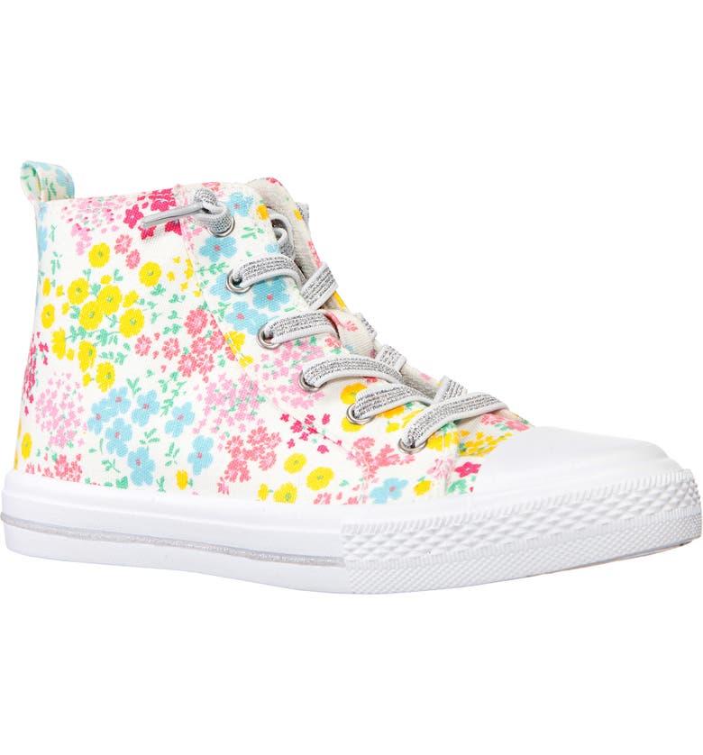 NINA Rafaela Floral High Top Sneaker, Main, color, FLORAL CANVAS