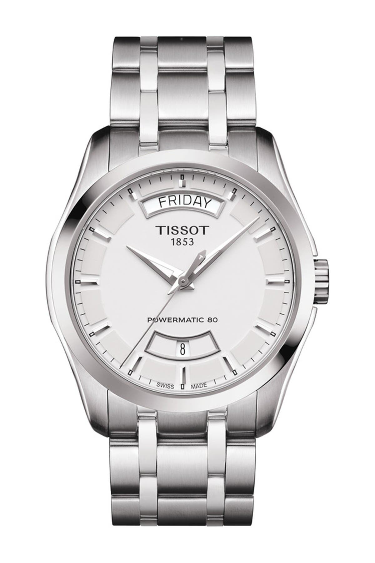 Image of Tissot Men's Couturier Bracelet Watch, 32mm