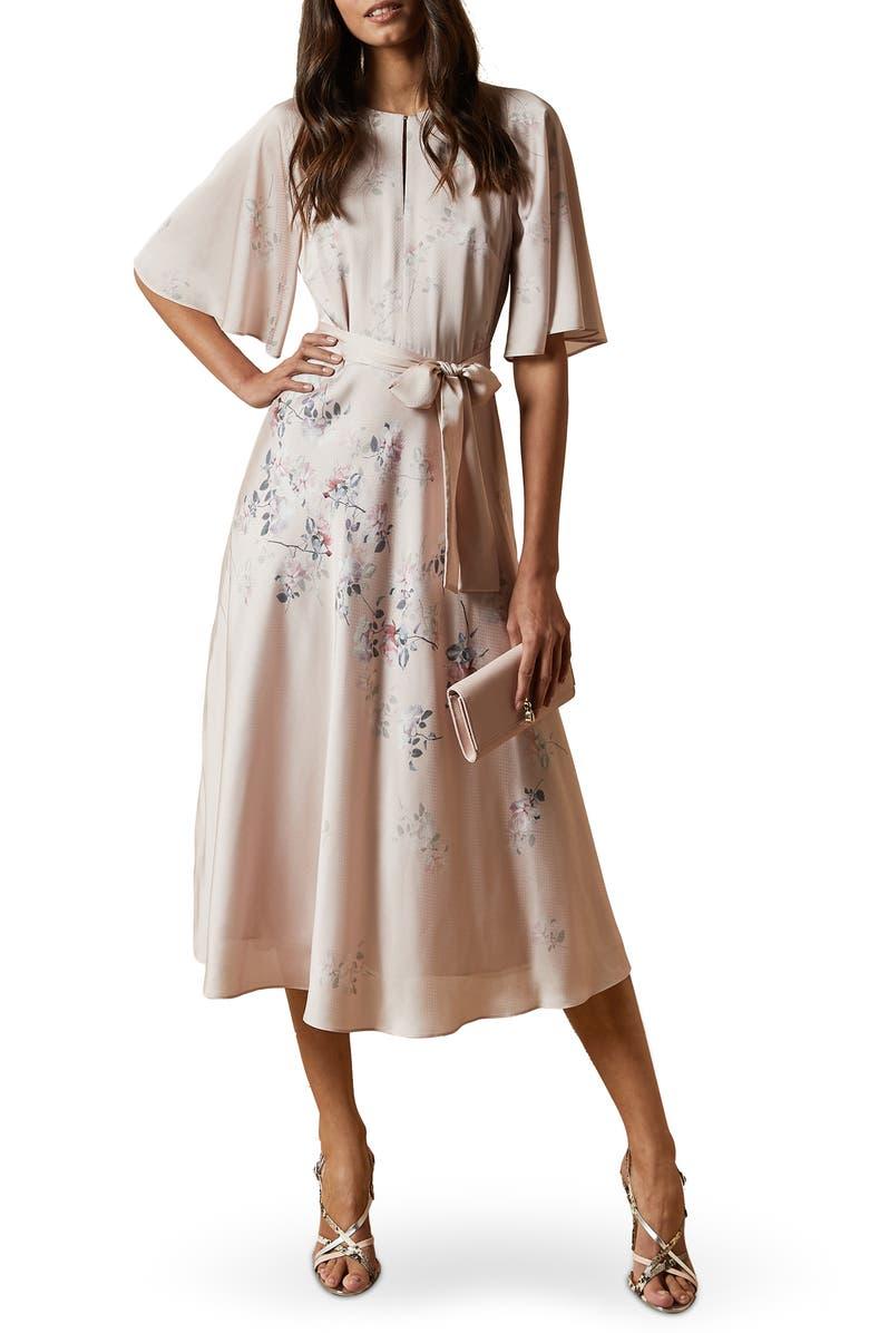TED BAKER LONDON Erla Bouquet Midi Dress, Main, color, 683