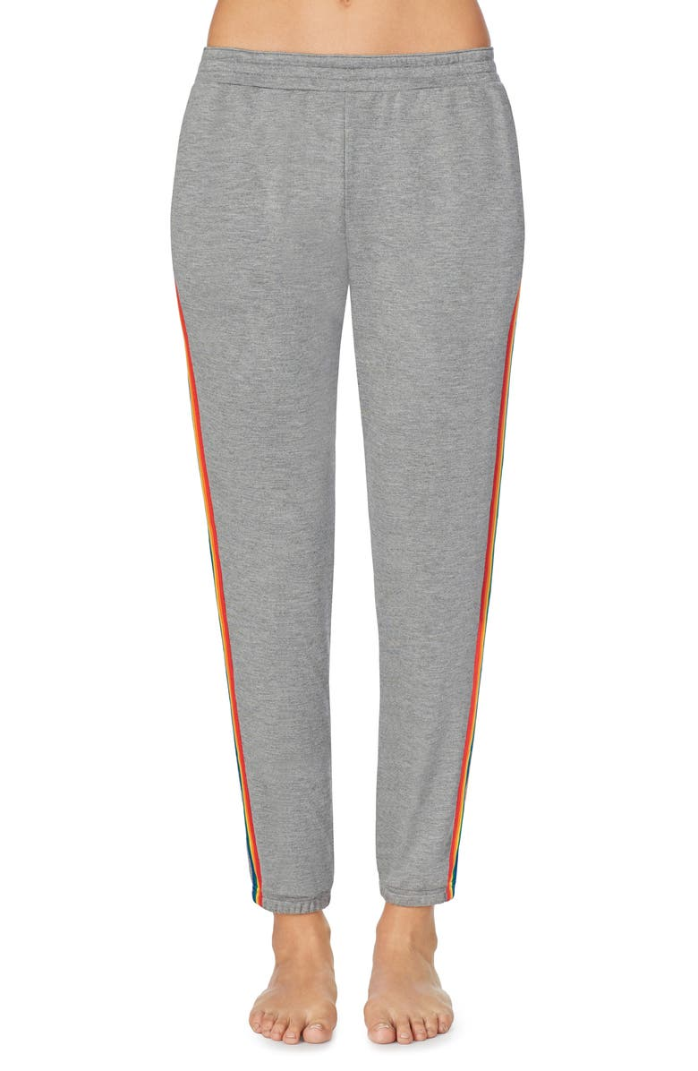 ROOM SERVICE Rainbow Trim Lounge Joggers, Main, color, 020