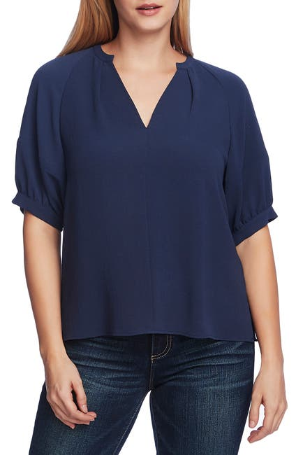 Image of Vince Camuto Bubble Sleeve Blouse
