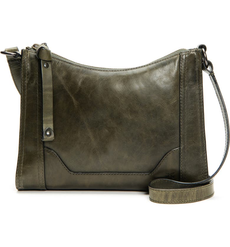 FRYE Melissa Leather Crossbody Bag, Main, color, PINE