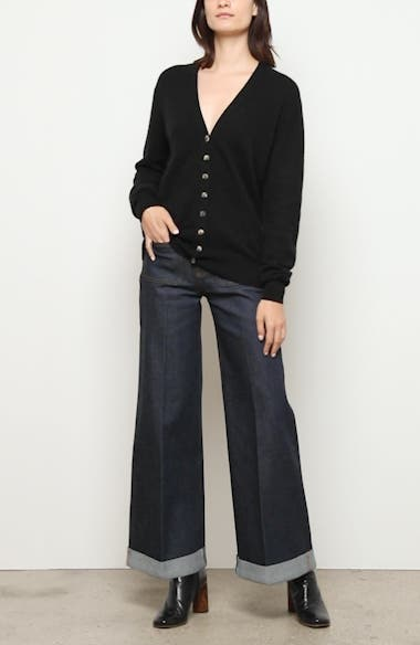 The Ray Roll Cuff Wide Leg Jeans, video thumbnail