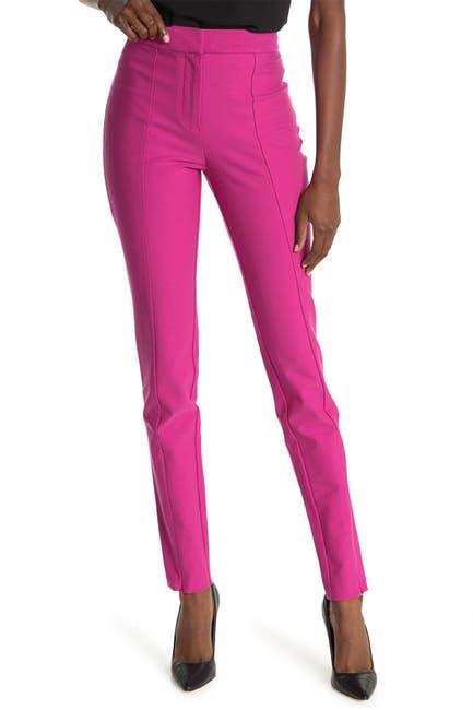 Image of DEREK LAM 10 CROSBY Ora Slim Fit Zip Slit Trousers
