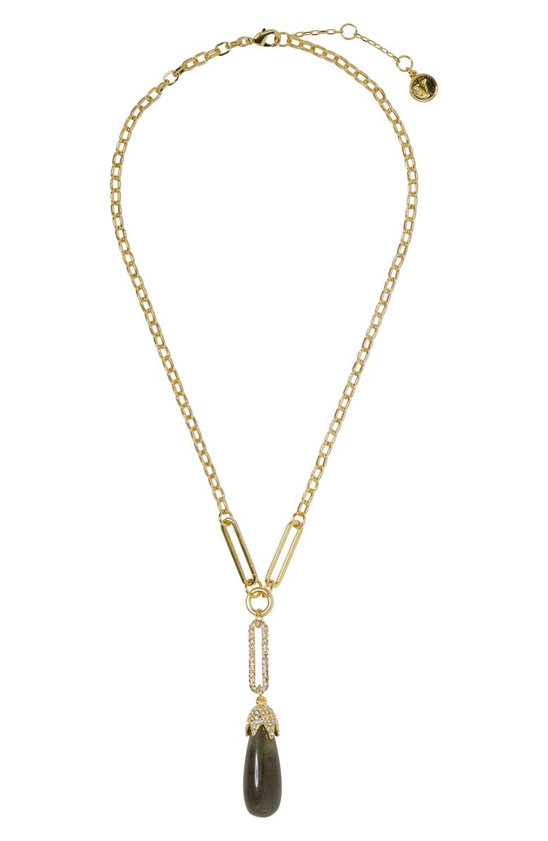 VINCE CAMUTO Resin Pendant Necklace, Main, color, GOLD