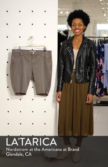 Notch Detail Stretch Cotton Blend Bermuda Shorts, sales video thumbnail