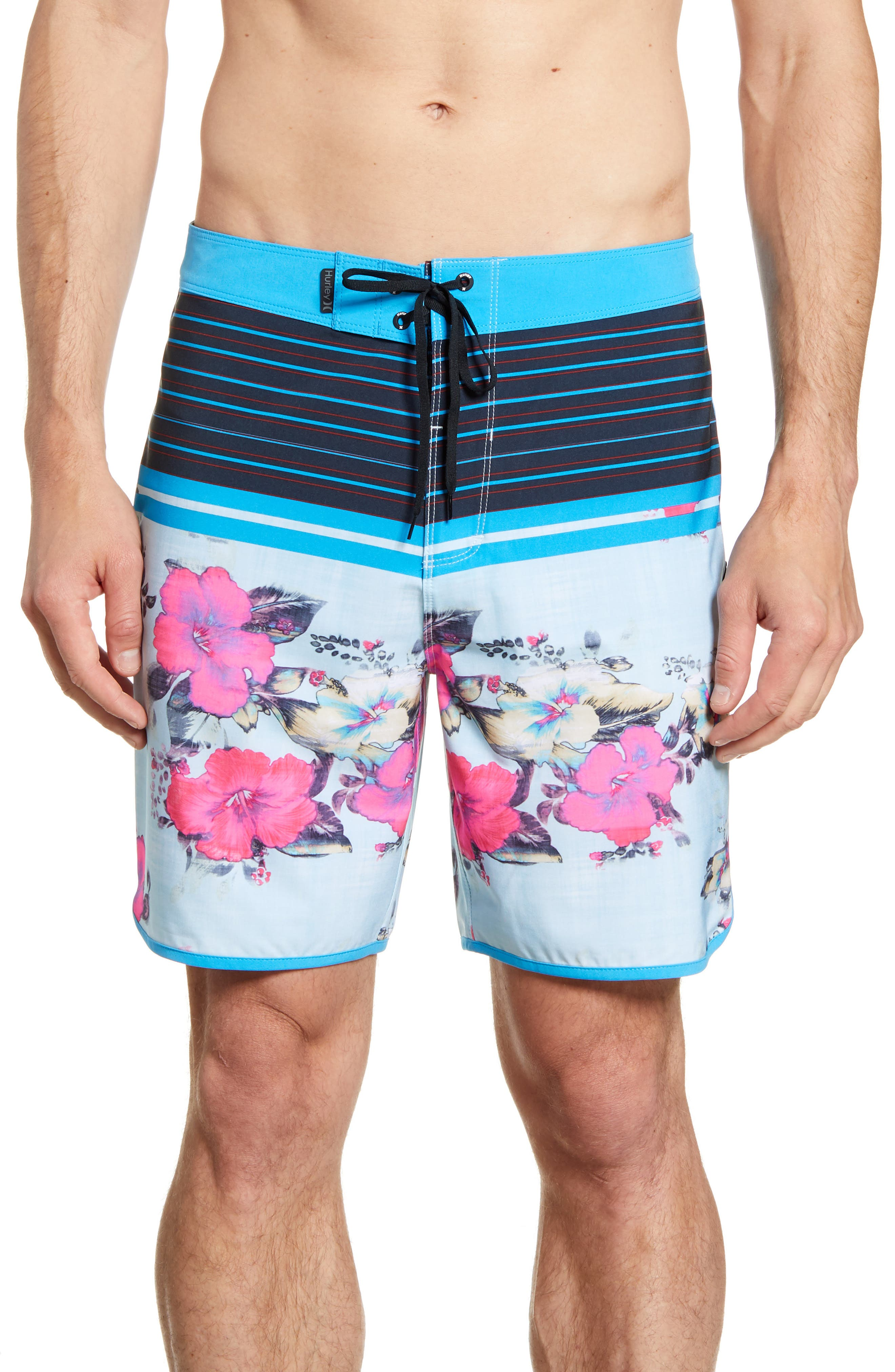 Hurley Phantom Ramble Board Shorts, Blue