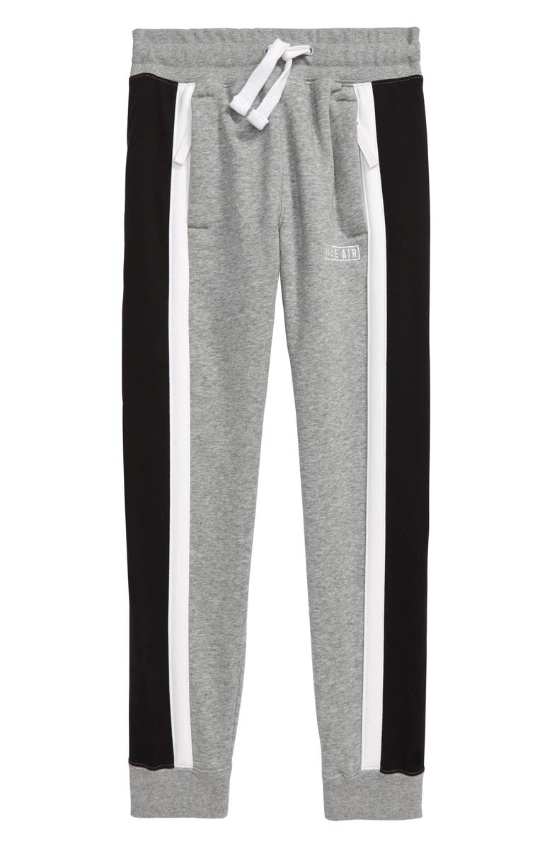 NIKE Air Sweatpants, Main, color, DARK GREY HEATHER/ WHITE