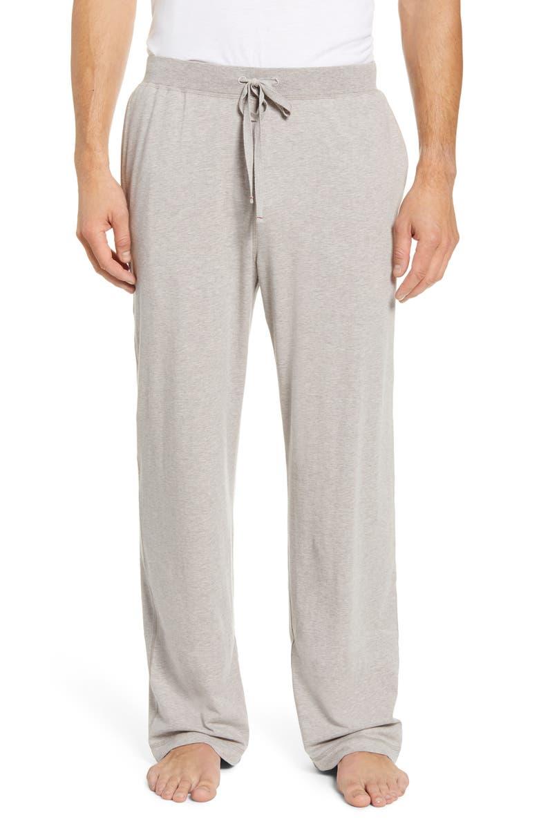 DANIEL BUCHLER Stretch Cotton & Modal Lounge Pants, Main, color, SAND
