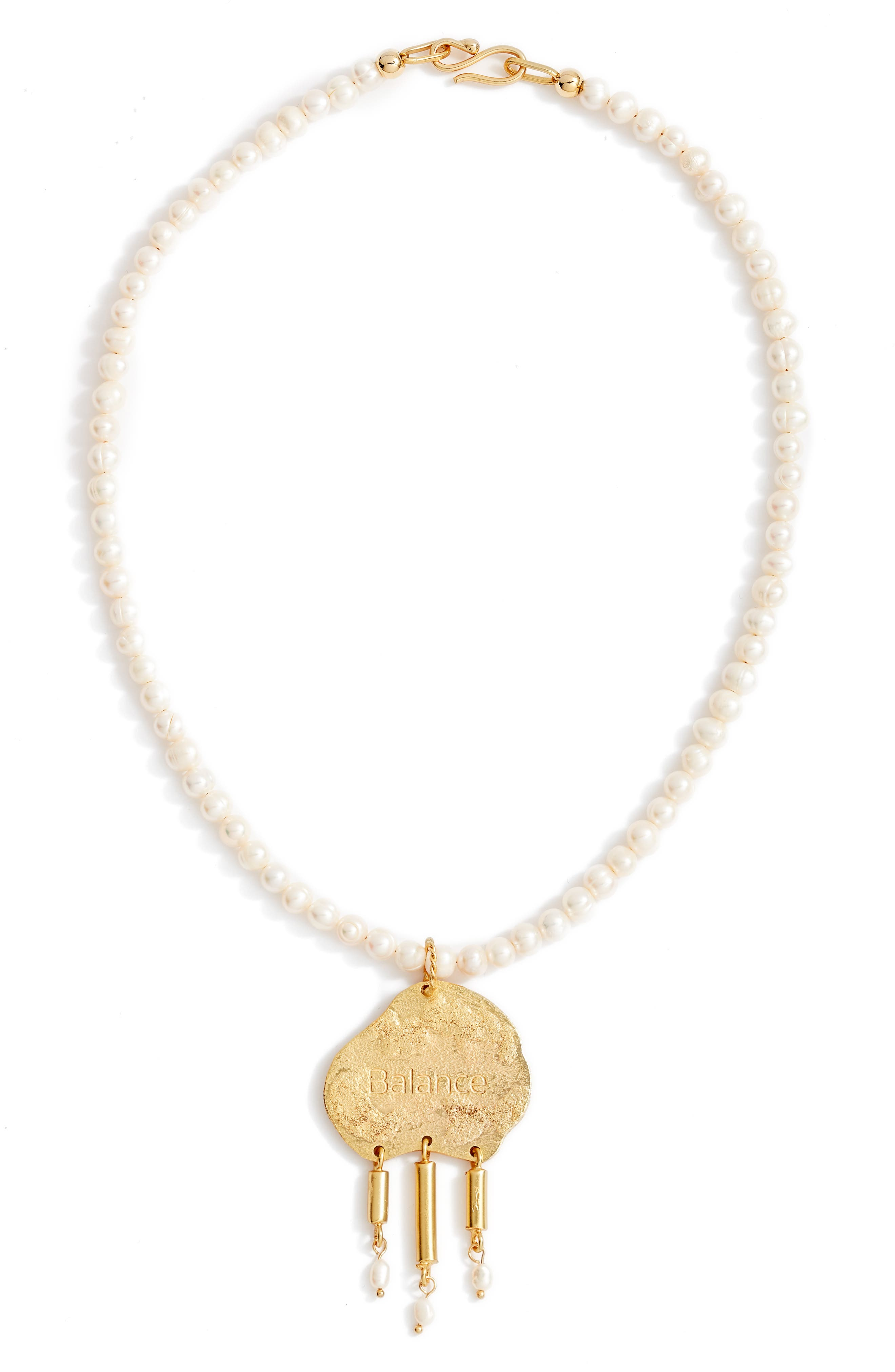 Imperfection Balance Freshwater Pearl Pendant Necklace