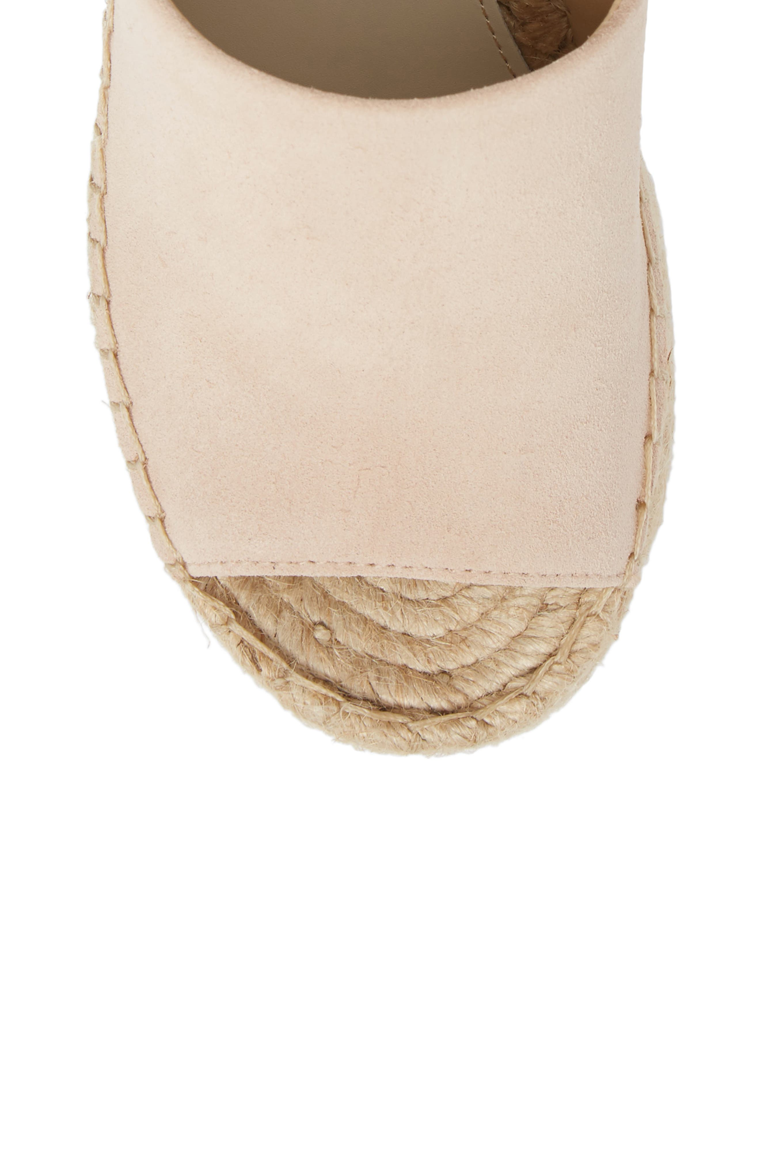 ,                             Adalyn Espadrille Wedge Sandal,                             Alternate thumbnail 5, color,                             IVORY SUEDE