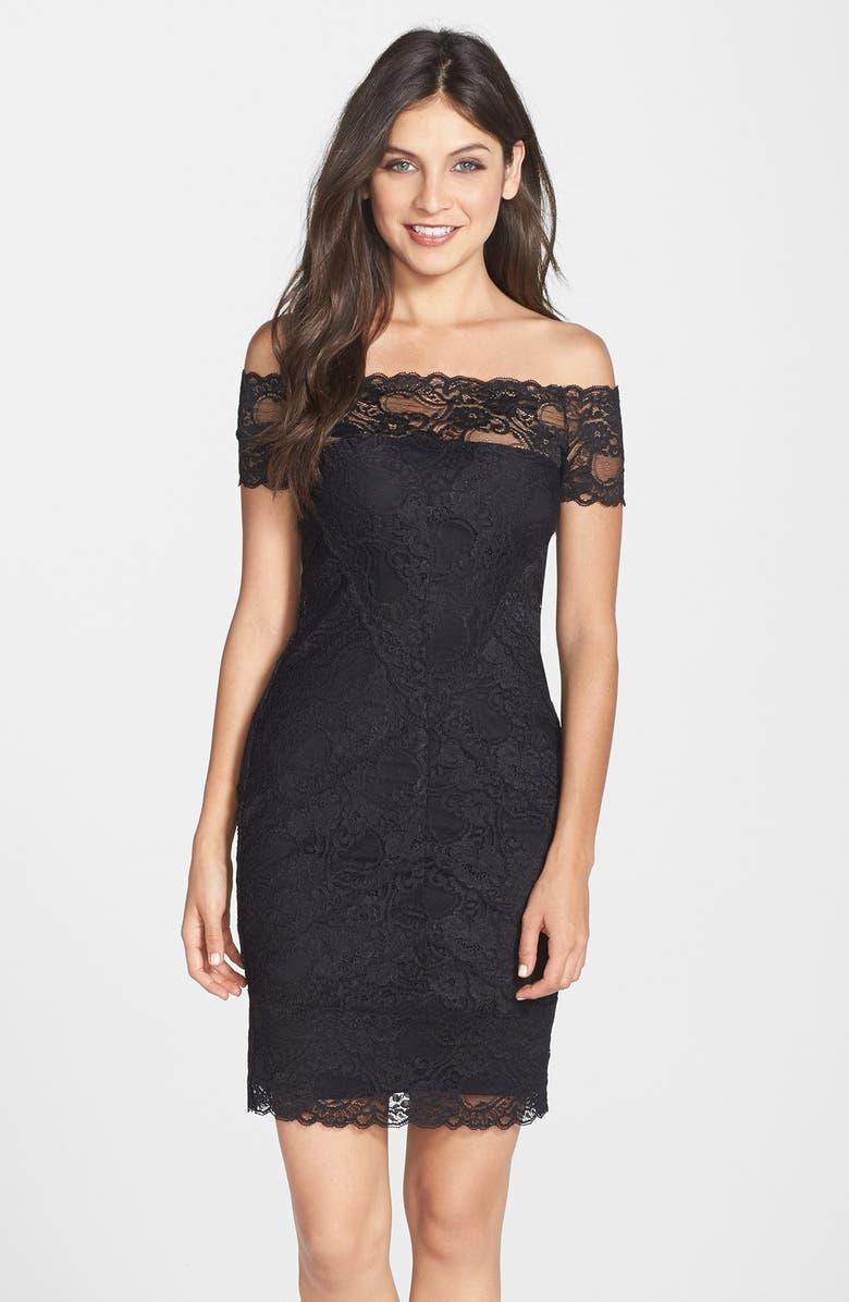 Nicole Miller Off The Shoulder Stretch Lace Dress Nordstrom