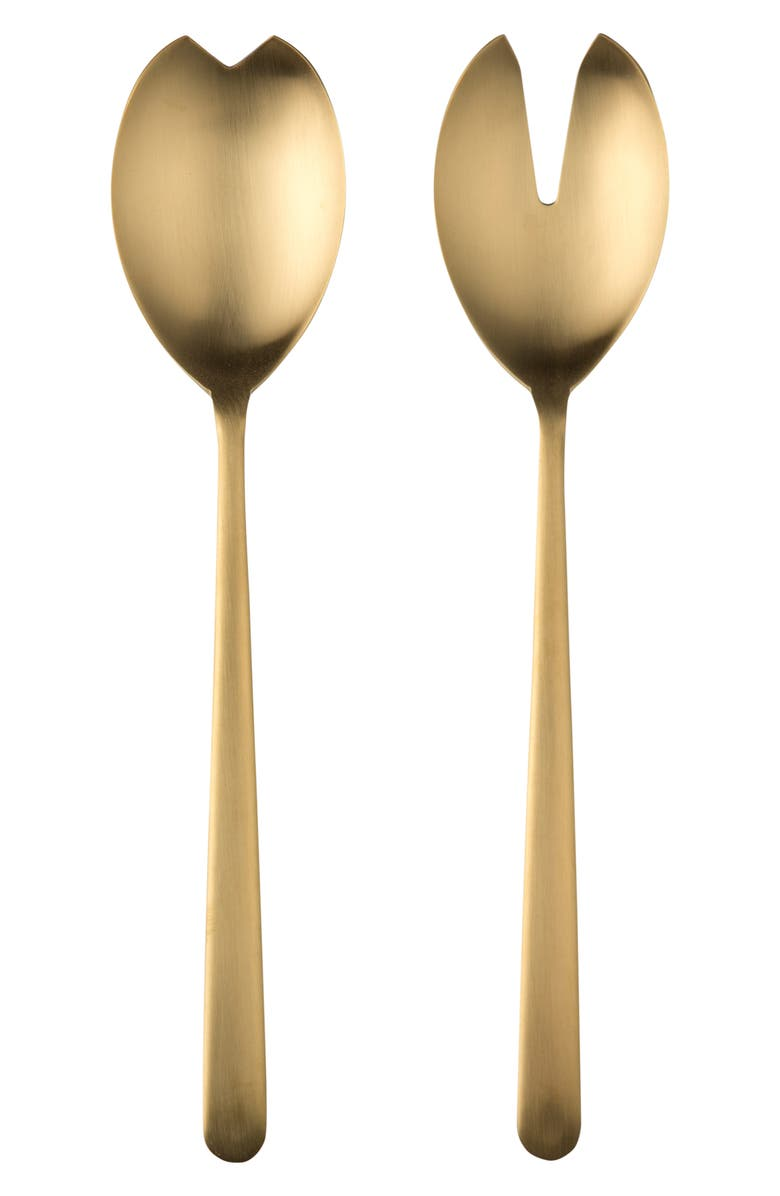 MEPRA Brushed Salad Servers, Main, color, BRUSHED STAINLESS GOLD