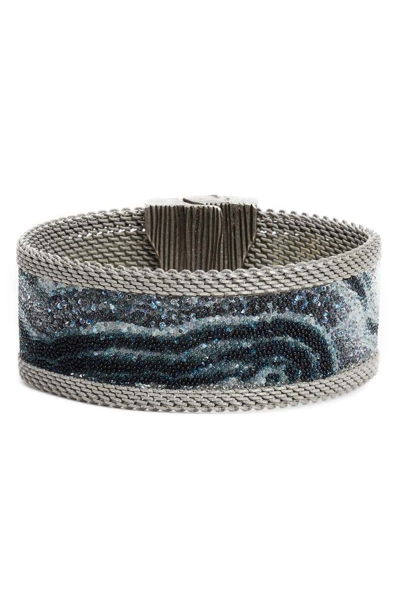 CYNTHIA DESSER Swarovski Crystal Bracelet, Main, color, 001
