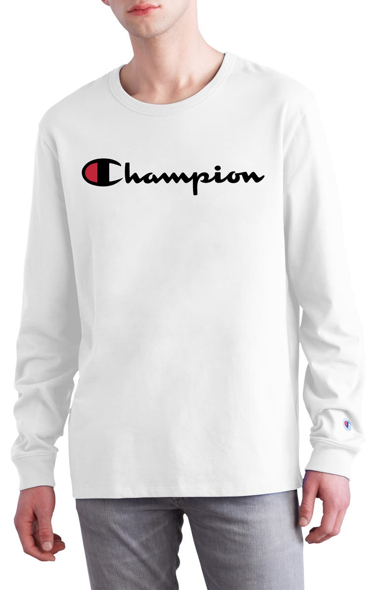 31e87869e7a0 Champion Heritage Long Sleeve Logo T-Shirt   Nordstrom