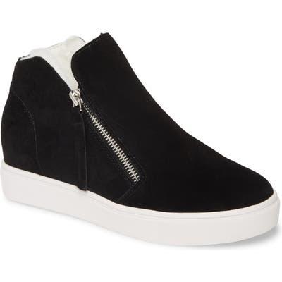 Steve Madden Caliber Faux Fur Lined Sneaker- Black
