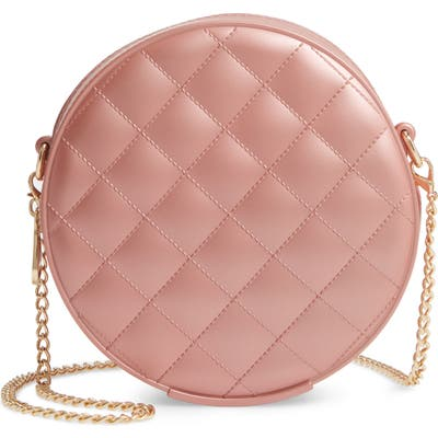 Bp. Round Jelly Quilted Crossbody Bag - Metallic