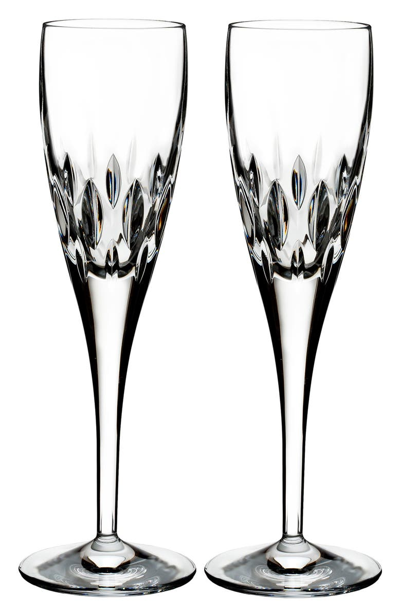 WATERFORD Enis Set of 2 Leaded Crystal Champagne Flutes, Main, color, ENIS