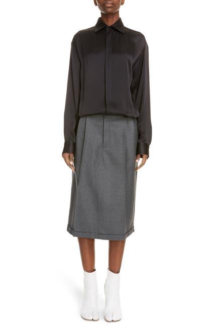 Image of MAISON MARTIN MARGIELA Mock Two-Piece Pied de Poule Dress