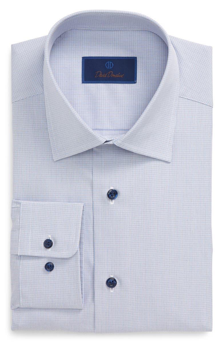 DAVID DONAHUE Regular Fit Dress Shirt, Main, color, PURPLE