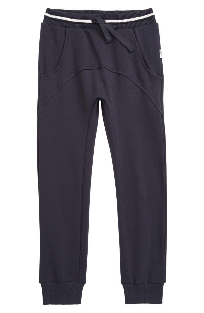 MILES BABY Knit Jogger Pants, Main, color, 902 DARK GREY