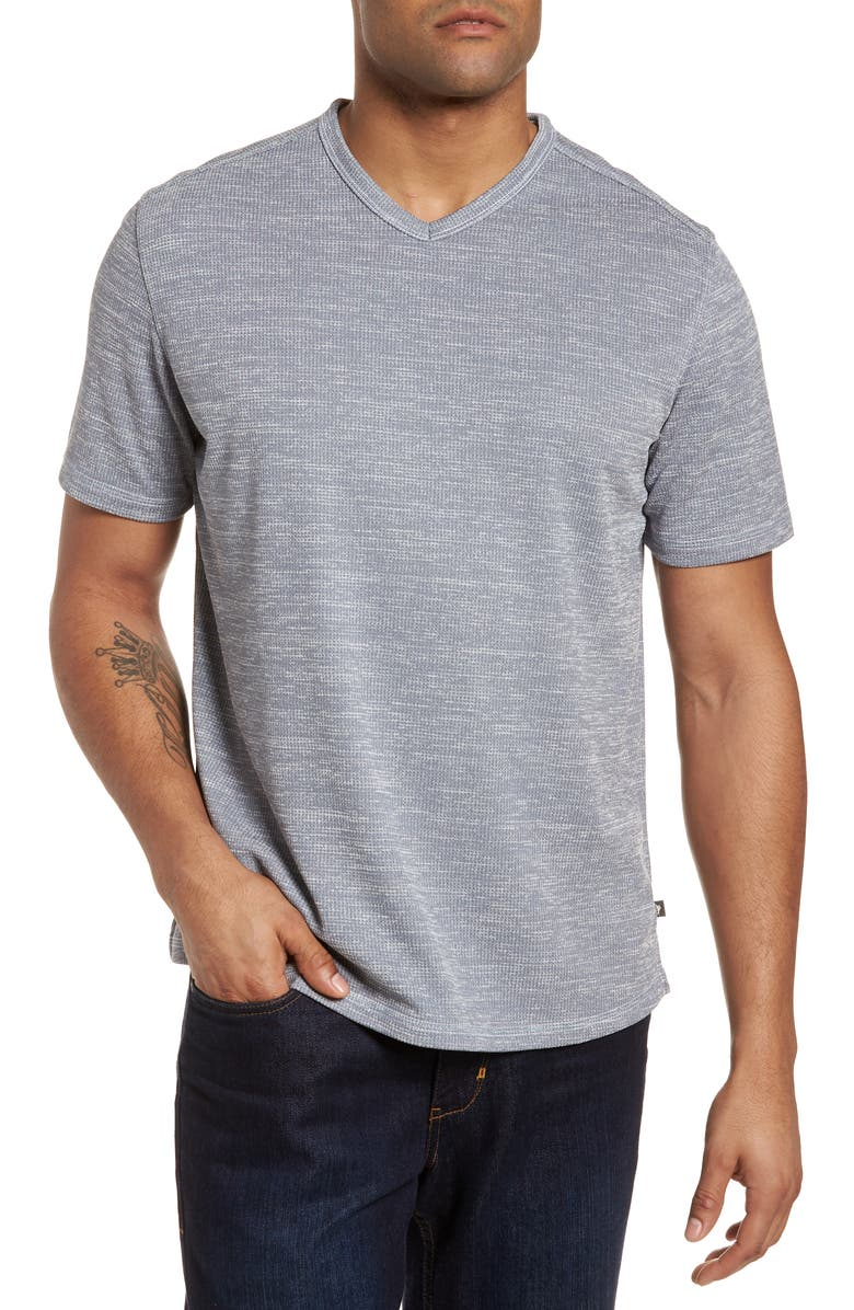 TOMMY BAHAMA Sand Key V-Neck T-Shirt, Main, color, CARBON GREY