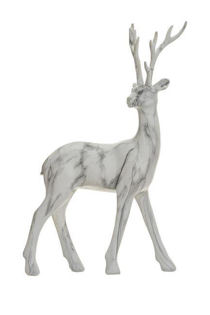 "Image of ALLSTATE 17"" White Marble Reindeer"