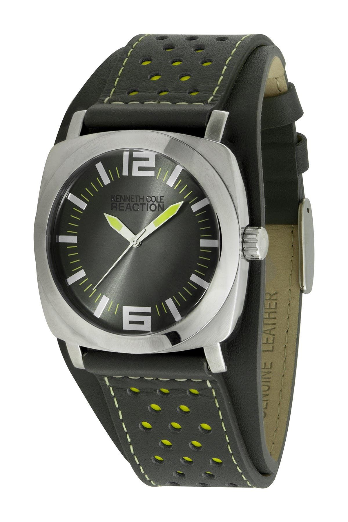 Image of Kenneth Cole Reaction Men's Perforated Analog Quartz Sport Watch, 40mm