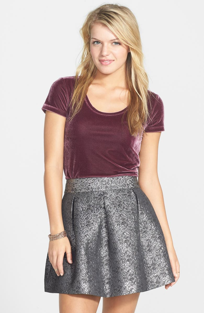 FRENCHI <sup>®</sup> Metallic Crinkle Skirt, Main, color, 041