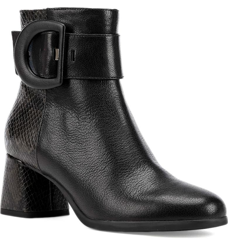 GEOX Calinda Bootie, Main, color, BLACK LEATHER