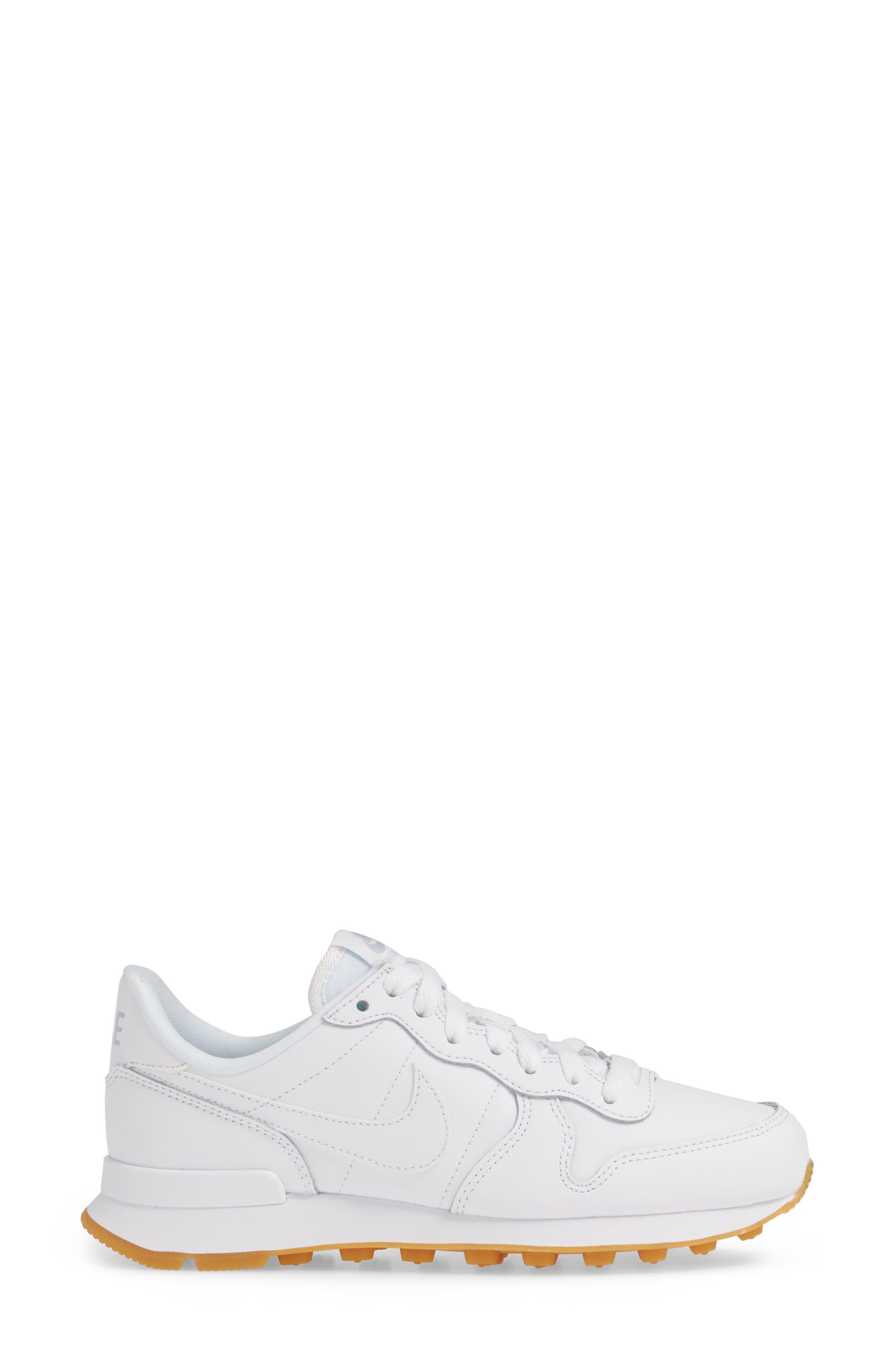,                             'Internationalist' Sneaker,                             Alternate thumbnail 3, color,                             WHITE/ WHITE/ GUM LIGHT BROWN