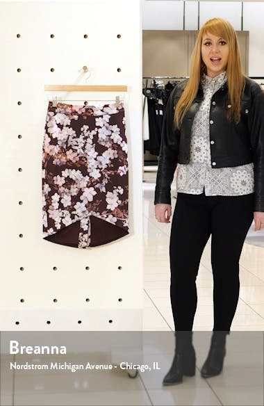 Briia Pergola Floral Print Pencil Skirt, sales video thumbnail