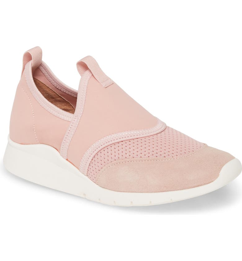 GENTLE SOULS BY KENNETH COLE Raina Lite Sporty Slip-On Sneaker, Main, color, PEONY PINK FABRIC
