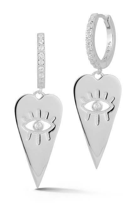 Image of Sphera Milano Silver Heart Eye Earrings