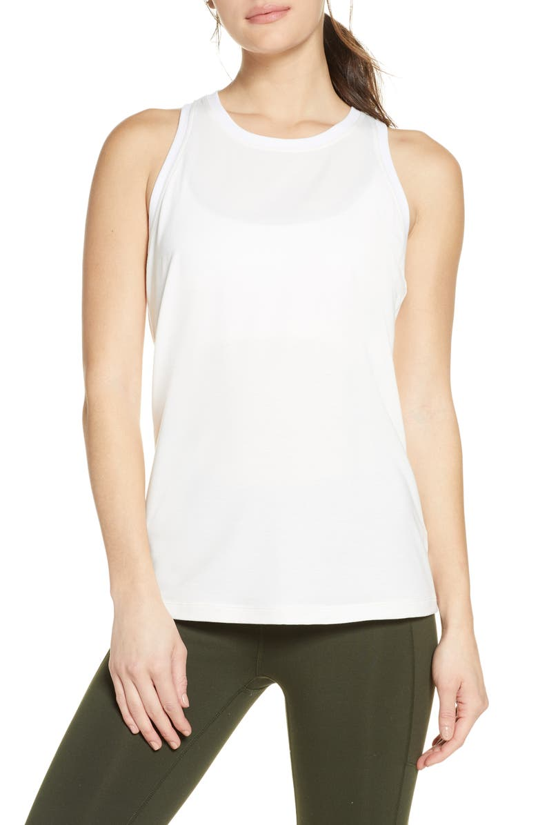 ZELLA Twisty Back Tank, Main, color, WHITE BLANC
