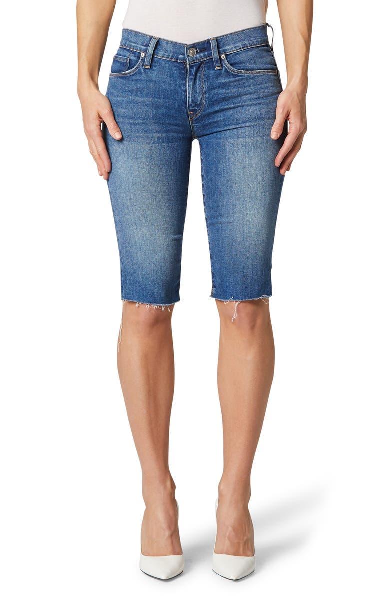 HUDSON JEANS Amelia Cutoff Knee Denim Shorts, Main, color, TRUE COLORS