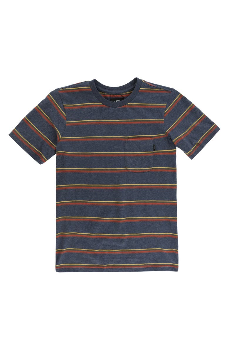 O'NEILL Goathill Stripe Cotton T-Shirt, Main, color, NAVY HEATHER