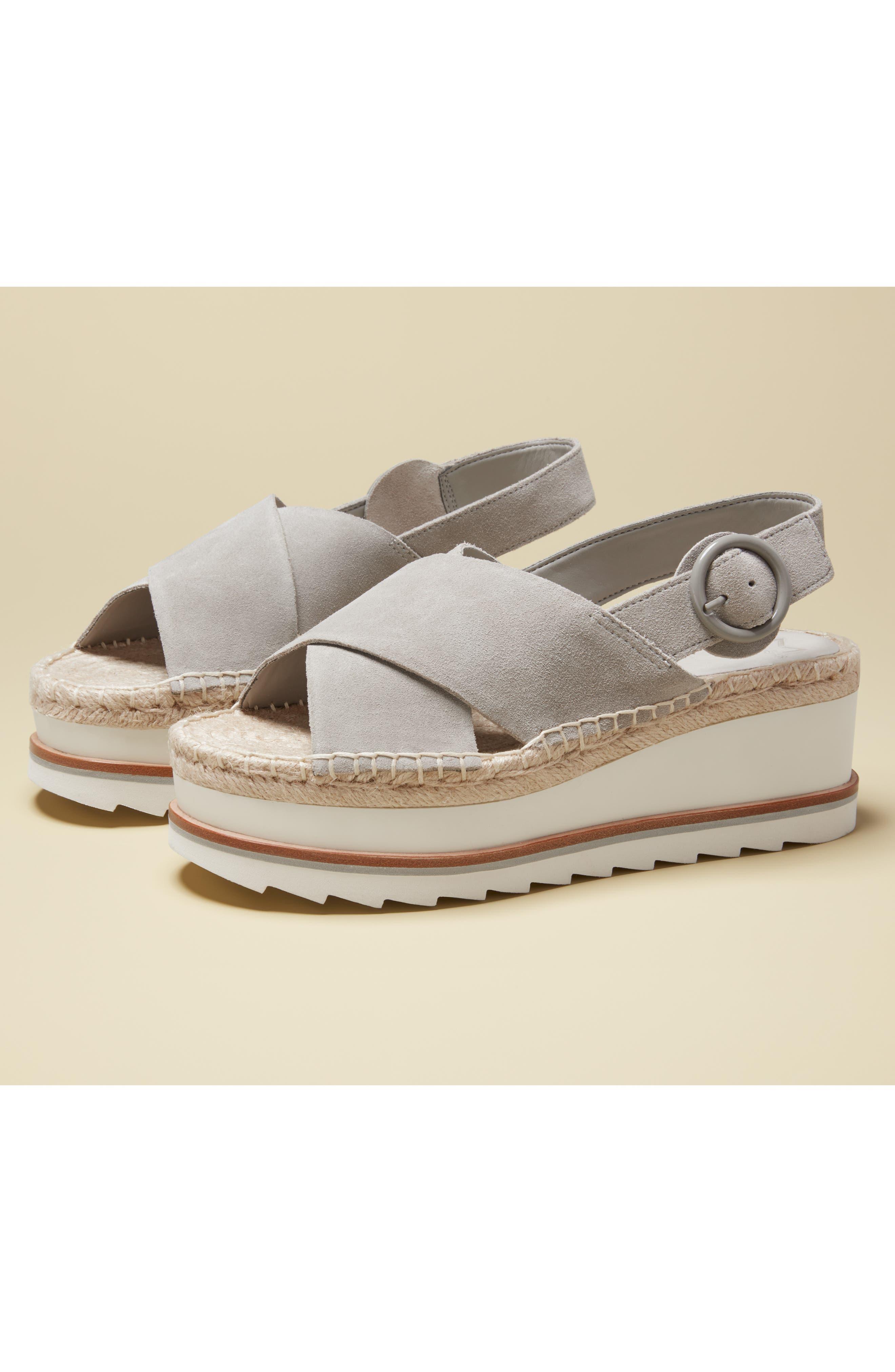 ,                             Glenna Platform Slingback Sandal,                             Alternate thumbnail 7, color,                             GREY SUEDE