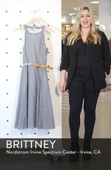 Belted Halter Fit & Flare Dress, sales video thumbnail