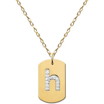Jane Basch Designs Diamond Initial Dog Tag Necklace (Nordstrom Exclusive)