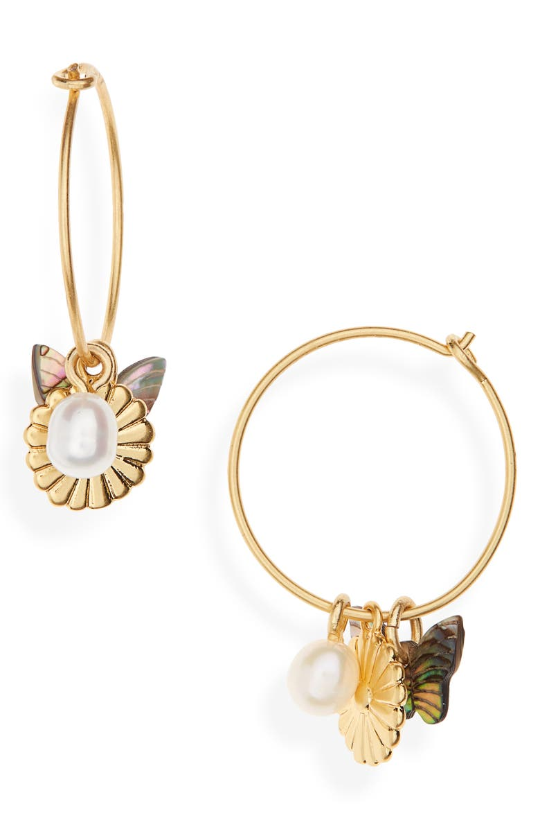 MADEWELL Collection Mix & Match Charm Hoop Earrings, Main, color, 710
