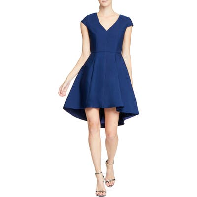 Halston Heritage High/low Cocktail Dress, Blue