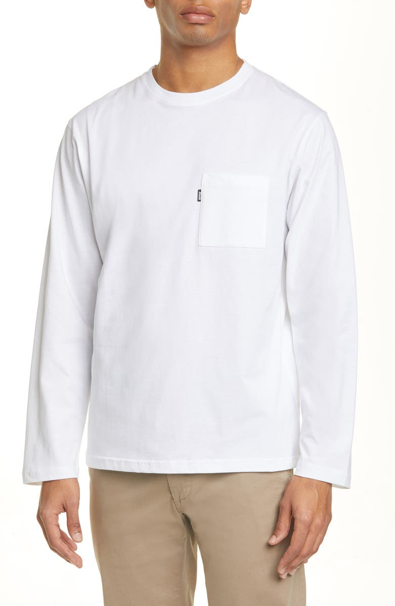 AFFIX Radio Long Sleeve Graphic Tee, Main, color, WHITE