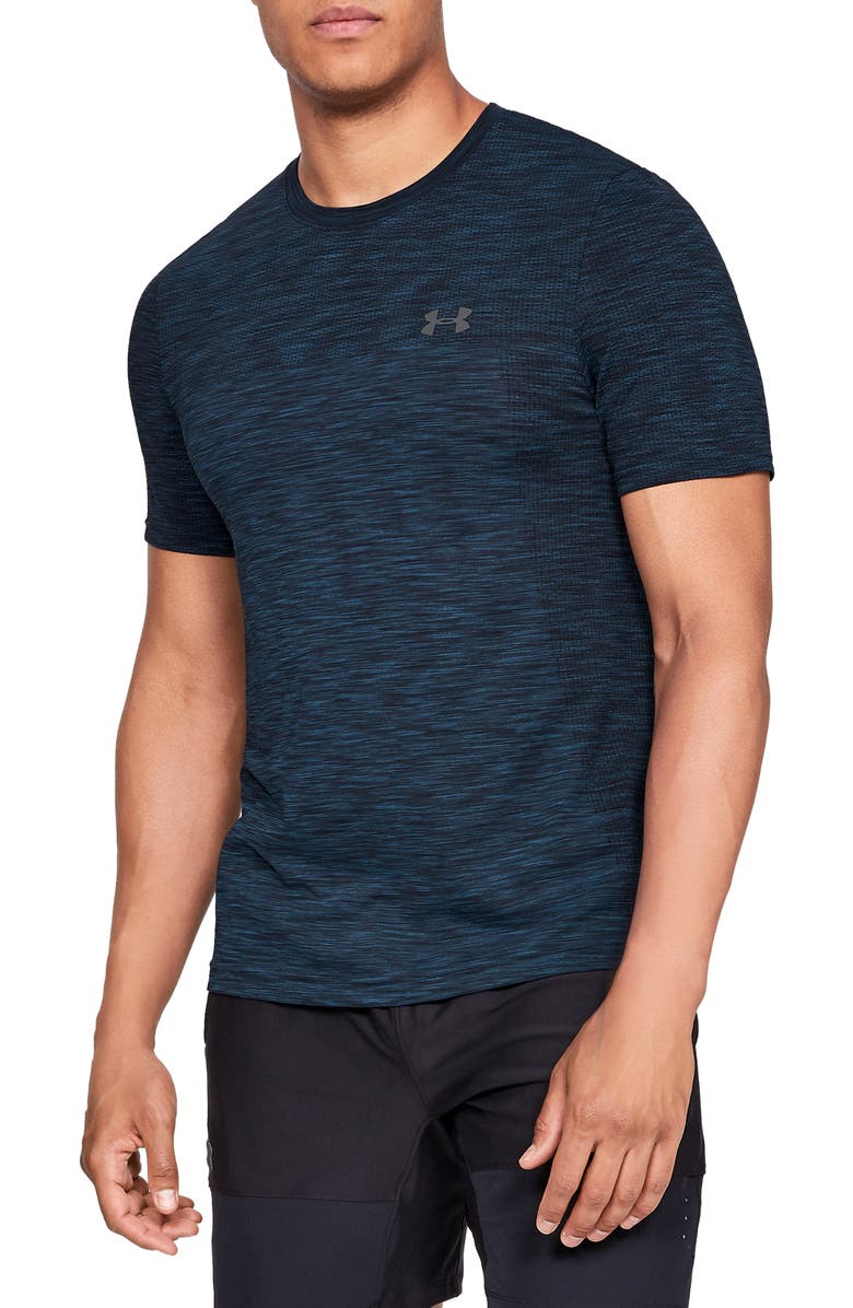 UNDER ARMOUR Siphon Performance T-Shirt, Main, color, NAVY