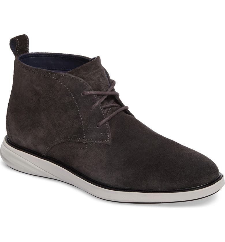 COLE HAAN Grand Evolution Water Resistant Chukka Boot, Main, color, DARK GREY LEATHER