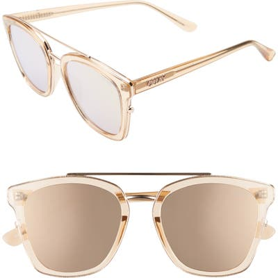 Quay Australia Sweet Dreams 51Mm Square Sunglasses - Champagne/ Rose
