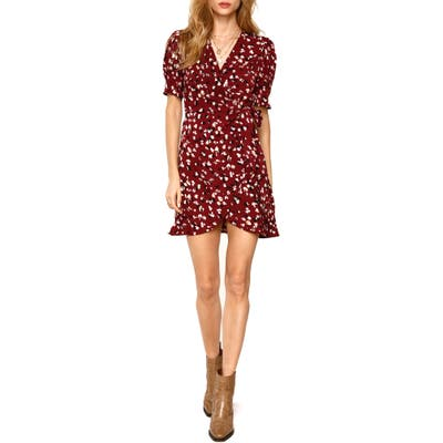 Heartloom Cheri Wrap Dress, Burgundy