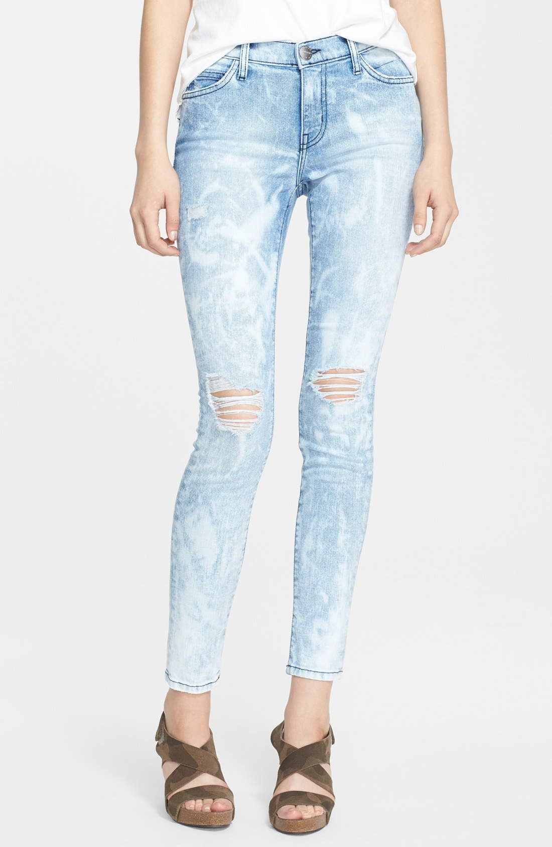 'The Stiletto' Destroyed Skinny Jeans, Main, color, 453
