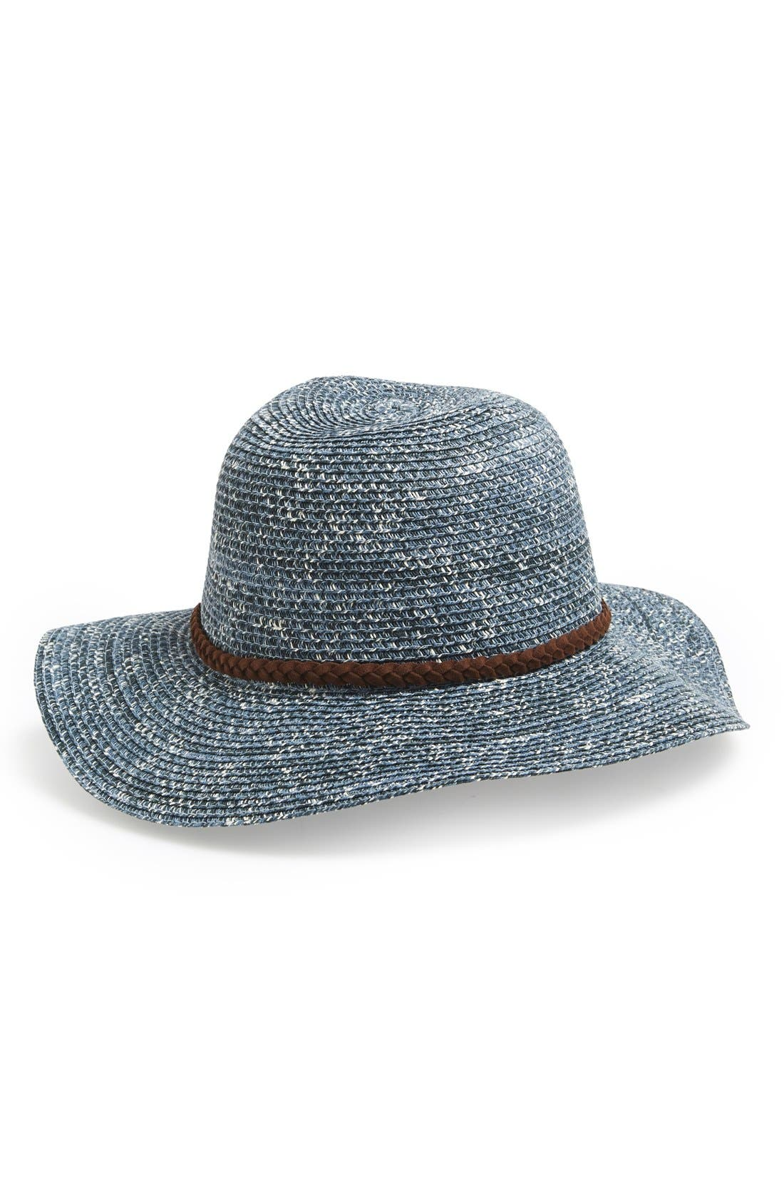 ,                             Straw Floppy Hat,                             Main thumbnail 4, color,                             020
